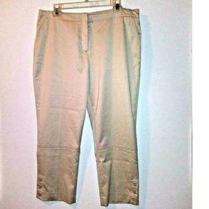 Peace Of Cloth Crop pants beige nude capris